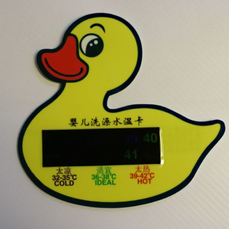 Baby Toddler Bath Thermometer Duck Water Temperature Liquid Crystal Thermometer Card